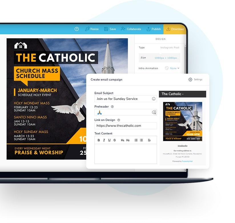 Versenden Sie E-Mail-Kampagnen mit Ihren Designs